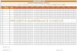 Annual Maintenance Schedule Template Yearly Nance Plan Template