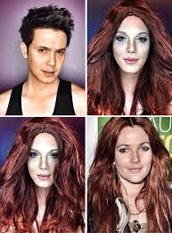 guy uses makeup to transform himself into female hollywood