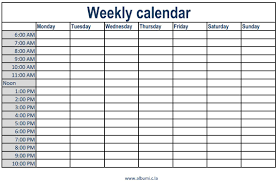 Academic Weekly Calendar Weekly Calendar With Time Slots Monthly Printable Calendar