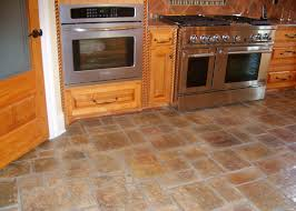 Rustic Kitchen Flooring Kitchen Tile Floor Ideas With Light Wood Cabinets Tile Or Wooden