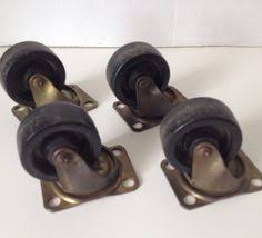 industrial furniture hardware. Rotating Plate Caster Wheels Lot Of 4 Industrial 1 1/2 Inch Wheel Marked \ Furniture Hardware