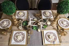 glamorous thanksgiving table