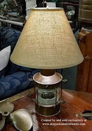vintage dutch anchor lantern nautical table lamp