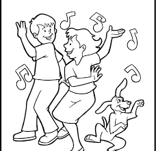 Small Picture Coloring Pages For Kids Online Dance Coloring Page In Ideas Online