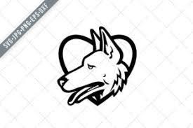 Download 3,256 german shepherd free vectors. German Shepherd Dog Head Heart Graphic By Patrimonio Creative Fabrica