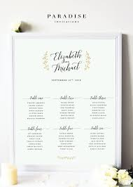 Wedding Table Seating Chart Mint And Gold Classy And