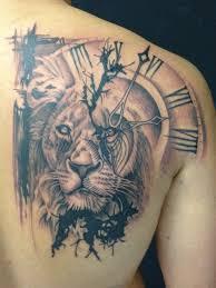 полный татуировки с часами на руке плече для мужчин женские