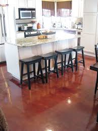 Cement Kitchen Floor Similiar Red Stained Concrete Floors Keywords