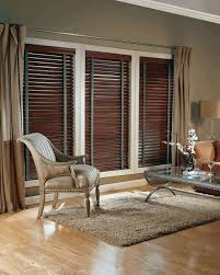 Living Room Blinds And Curtains Living Room With Curtains And Faux Wood Window Blinds Spruce Up