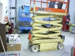 jlg e ft platform height electric scissor lift 2003 jlg 1932e2 19ft platform height electric scissor lift