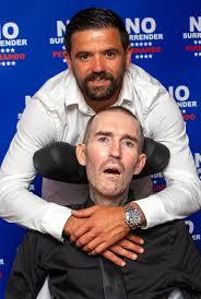 Fernando Ricksen fights back tears in his final public appearance to say  goodbye to Rangers fans in Glasgow