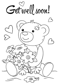 Cute Get Well Soon Coloring Page Kids Coloring Pages Get Well