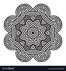 Celtic Pattern New Celtic Knot Pattern Card Mandala Amulet Royalty Free Vector