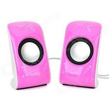 speakers pink. 6w mini usb powered stereo speaker w/ 3.5mm jack - white + black pink purple (2 pcs) speakers r