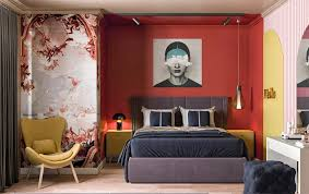 red bedrooms with tips and accessories