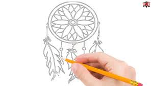 How To Draw A Dream Catcher How to Draw a Dreamcatcher Step by Step Easy for BeginnersKids 22