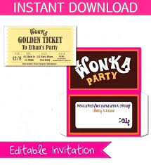 Golden Ticket Invitation Template – Custosathletics.co