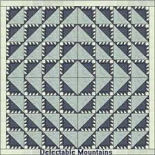 Delectable Mountains Quilt Patterns and History & Version 1 of Delectable Mountains Adamdwight.com