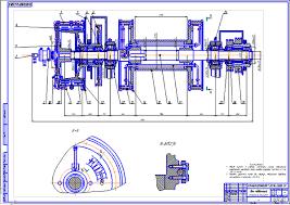 Вал подъемный буровой лебедки Чертеж Оборудование для бурения  Вал подъемный буровой лебедки Чертеж Оборудование для бурения нефтяных и газовых скважин Курсовая