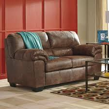 faux leather loveseat. Beautiful Leather Ashley Bladen Brown Padded Arm Faux Leather Loveseat And S