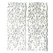 carved wood wall art arts wooden sculpture decor white whitewashed view