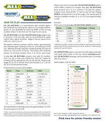 Keno Payout Chart Ma Mass Lottery Bingo Rules And Games