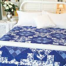 17 best King Size Quilt Patterns images on Pinterest | Beautiful ... & Bed and Breakfast: Easy Blue & White Bed Quilt Pattern Adamdwight.com