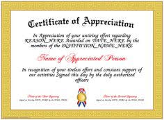 24 Best Recognition Certificate Images Certificate
