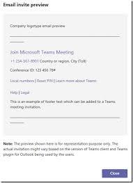 Customizing Microsoft Teams Meeting Invitations Jeff