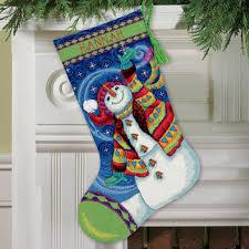 snowman christmas stockings. Modren Snowman Happy Snowman Christmas Stocking  Needlepoint Kit With Stockings G