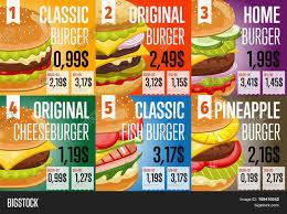 Design Fast Food Menu Fast Food Restaurant Vector Photo Free Trial Bigstock