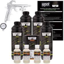 Raptor Liner Color Chart U Pol Raptor Shoreline Beige Urethane Spray On Truck Bed Liner Kit W Free Spray Gun 4 Liters