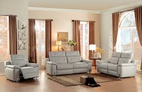 alluring grey leather sofa with 3 piece homelegance vortex top grain grey leather power reclining sofa