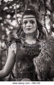 black amazon warrior. Unique Warrior The Darkhaired Warrior In Armor Amazon Forrest Black And White  Stock And Warrior