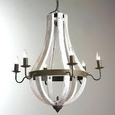 white iron chandelier wooden wine barrel stave chandelier off white wrought iron chandelier