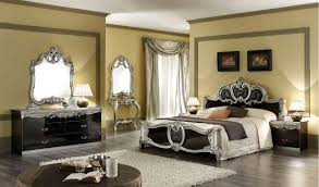 black lacquer bedroom furniture. barocco bedroom lacquer black silver furniture