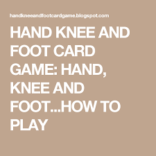 Canasta Score Sheet Template Mesmerizing HAND KNEE AND FOOT CARD GAME HAND KNEE AND FOOTHOW TO PLAY