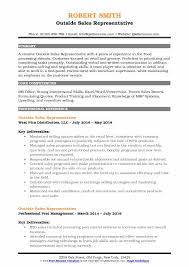 Sales Position Resume Examples Outside Sales Representative Resume Samples Qwikresume