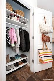 diy organization entry closet