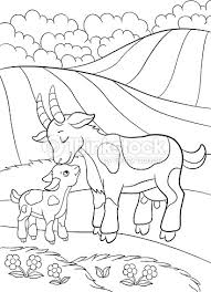 Small Picture Coloring Pages Farm Animals Mother Goat With Her Little Baby