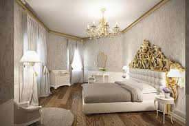 glamorous bedroom furniture. this glamorous bedroom accents the white furniture with shades of warm grey and bright gold. d