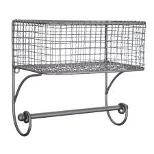 metal wall basket with rod hobby