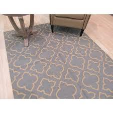 eorc handmade wool blue transitional geometric reversible modern moroccan kilim rug 5 x 8