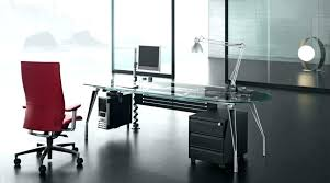 glass office table. Glass Top Office Desk Interior Transform Creative Home Designing Modern Table