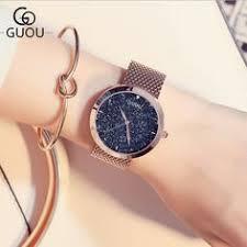 <b>2018 New GUOU Watch</b> Fashion Women <b>Watches</b> Genuine Leather ...