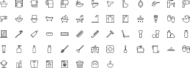 SVG vector icons in outline (stroke) style