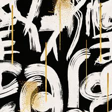 Gestural Abstraction Wallpaper in Black ...