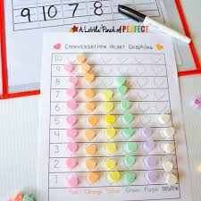 Candy Heart Sort and Graph Valentine's Math with Free Printable -