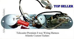 telecaster tele 4 way wiring harness cts sprague treble bleed mod