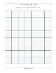 1 10 Of An Inch Math The Two Line Graph Paper With 1 Inch Major